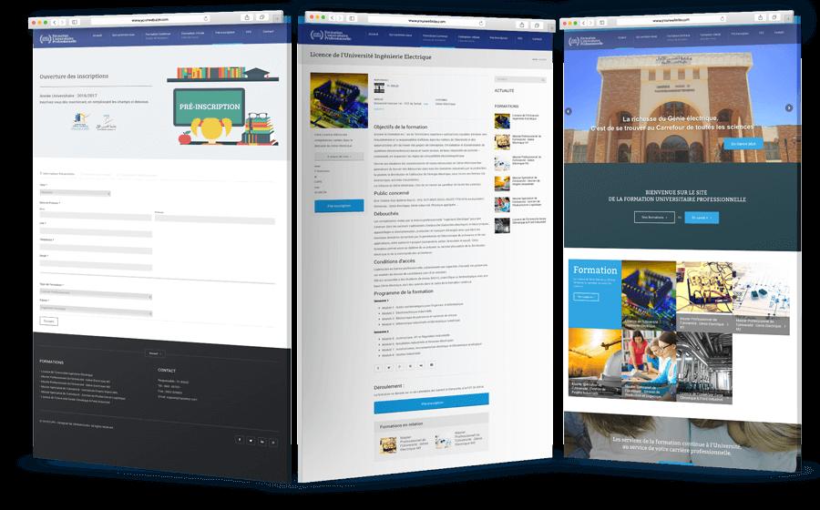 site web dynamique Site web Dynamique de formation Design fupsettat