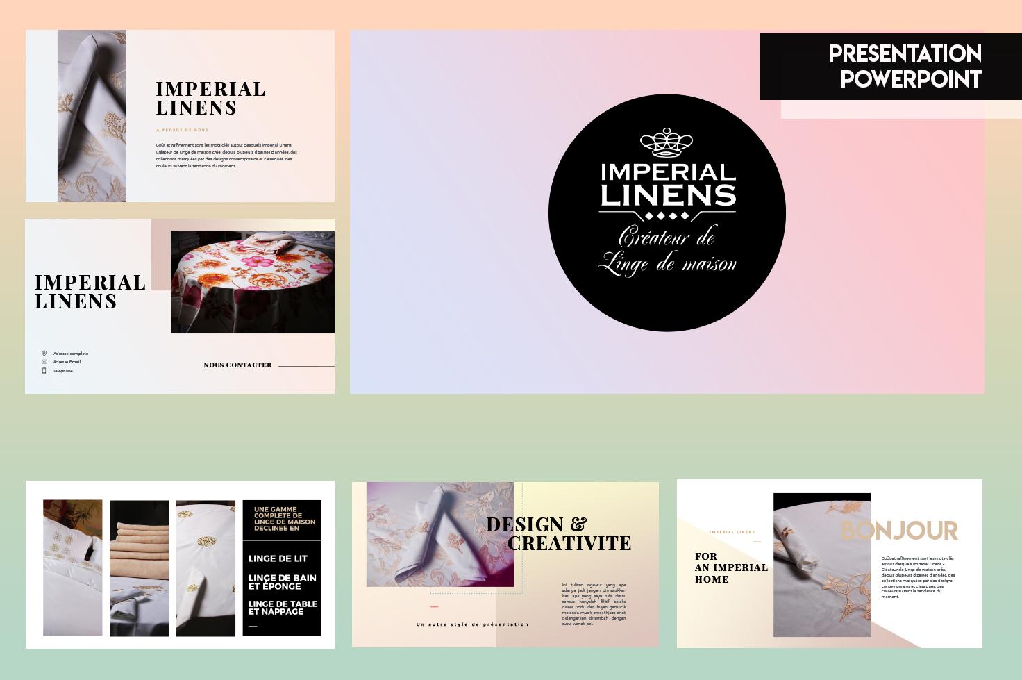 créateur contenu digital casablanca Imperial Linens – Réseaux sociaux project details 8 img1