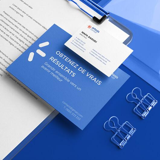 conception carte de visite maroc papeterie entreprise Papeterie d'entreprise design papeterie entreprise