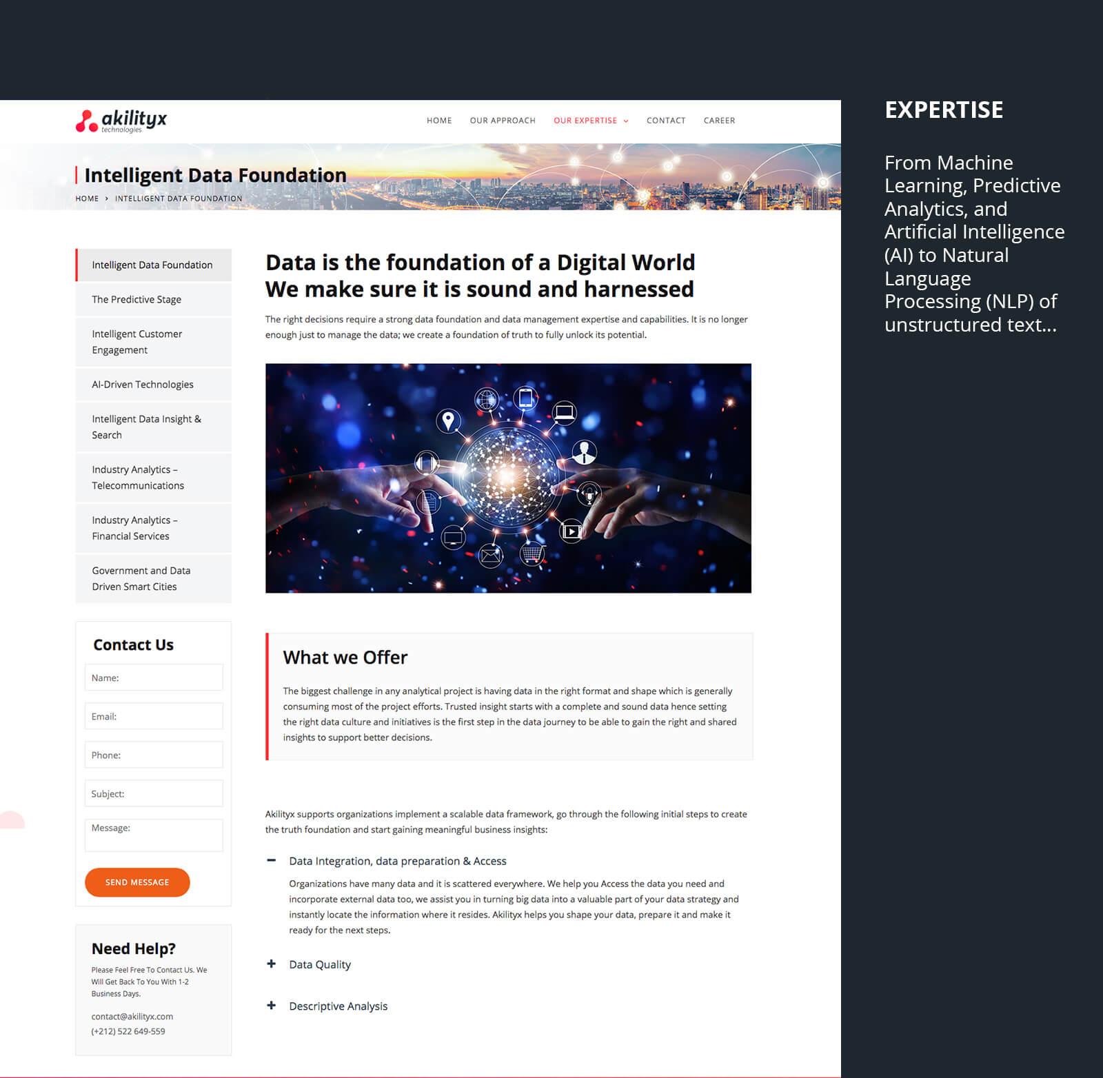 création site web analytiques identité visuelle analytique Akilityx – Identité & Site web akili10