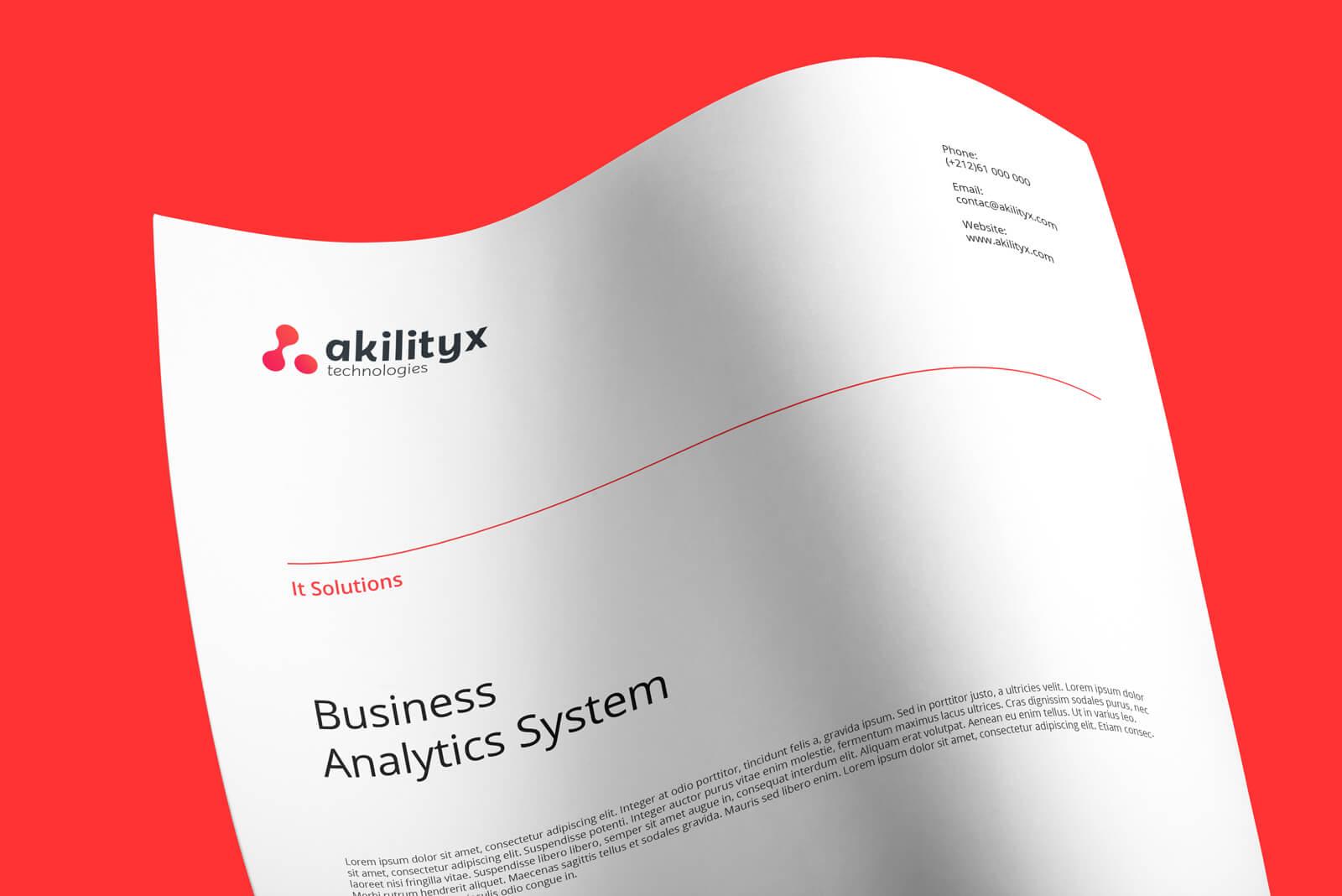 Akilityx technologies identité visuelle analytique Akilityx – Identité & Site web akili4