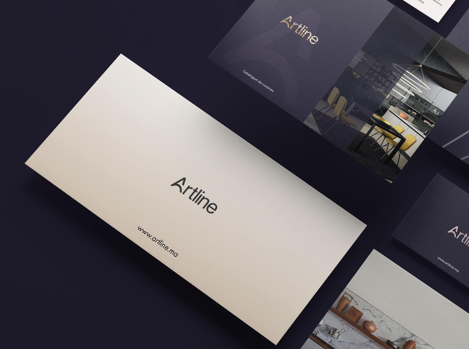 Identité de marque intérieur Artline identité visuelle intérieur Identité Artline intérieur art6