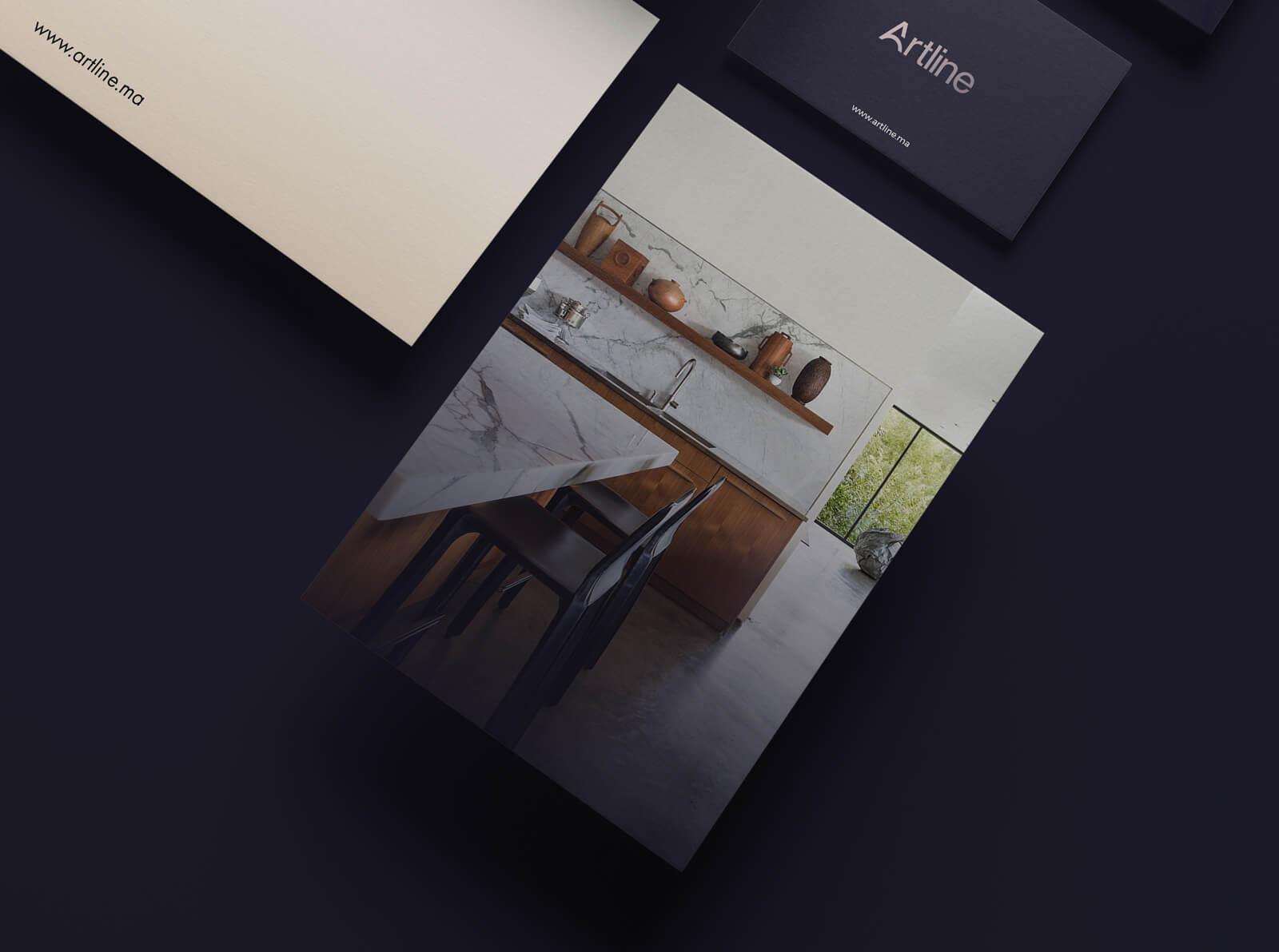 identité visuelle intérieur design identité visuelle intérieur Identité Artline intérieur art63