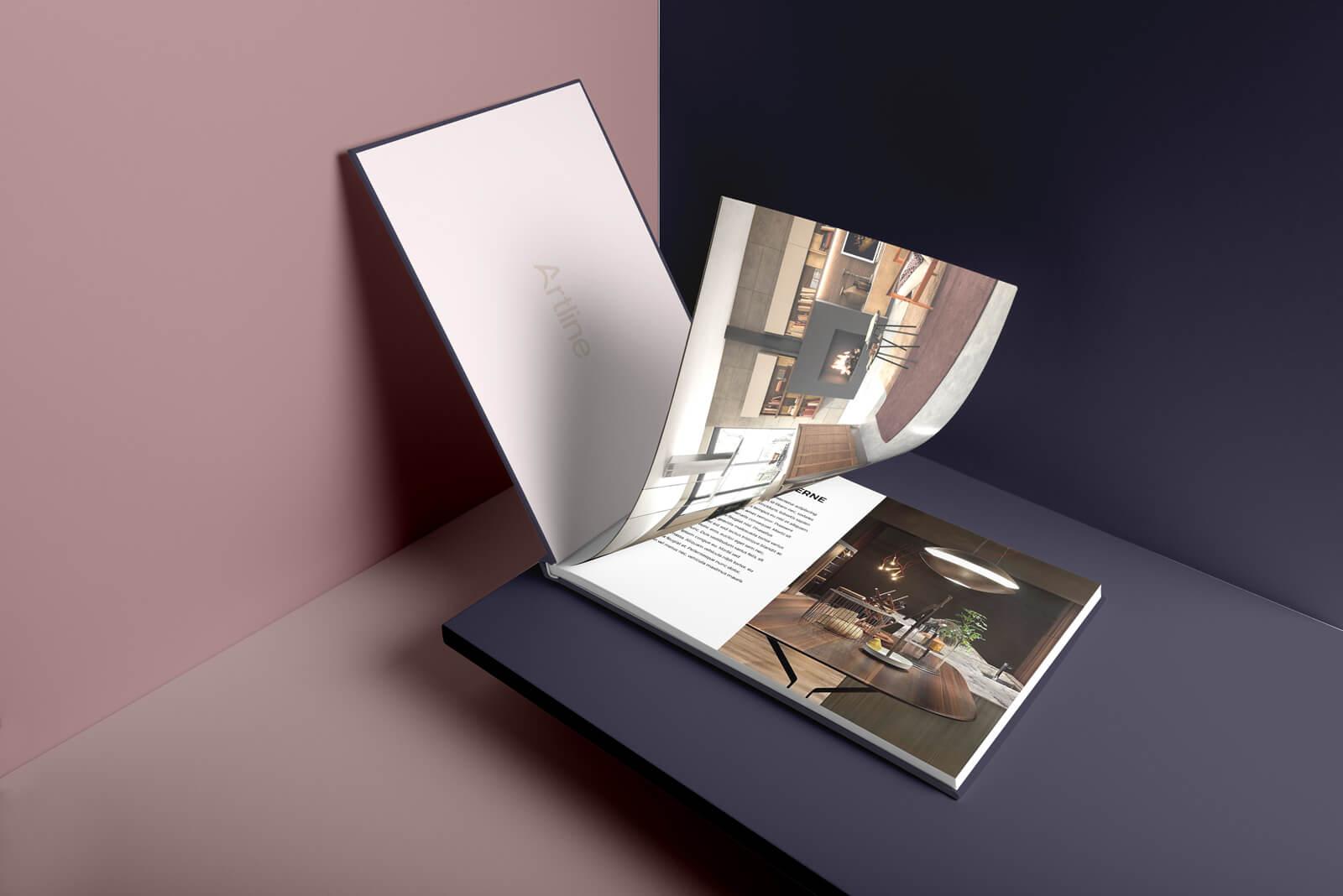 Catalogue intérieur design identité visuelle intérieur Identité Artline intérieur art9